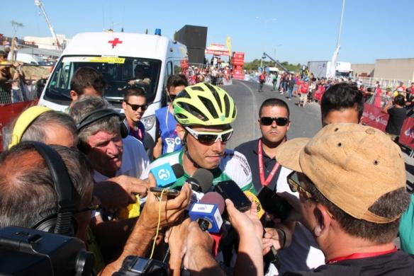 Jesus Ezquerra Muela intervistato dopo la vittoria odierna (JC Faucher)