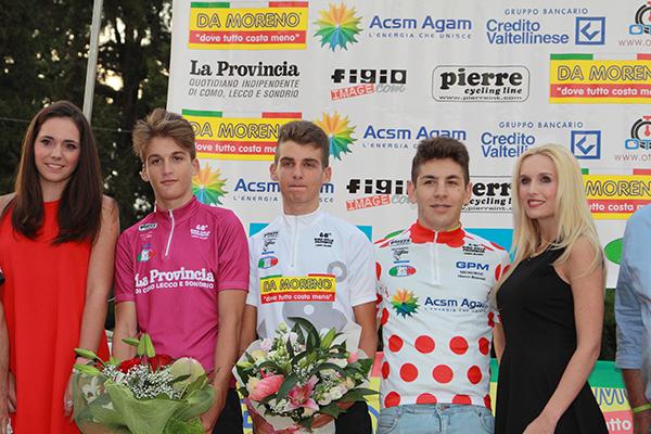 Da sx, Baroni, Ro e Sulis, i tre leader del 68° Giro della provincia di Como (Foto Kia)