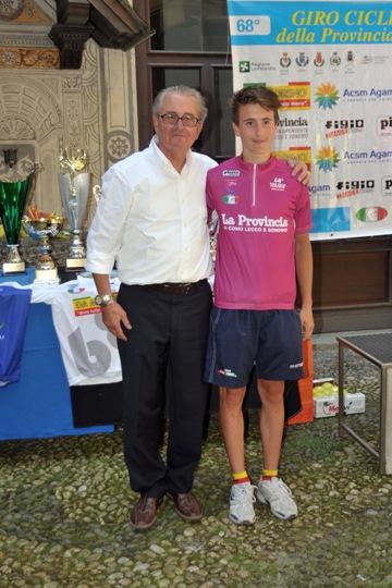 Alessio Martinelli col presidente FCI-Sondrio, Michele Imparato (Foto Mambretti)
