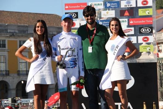 Vdovin Alexander maglia bianca Tour de Suisse.