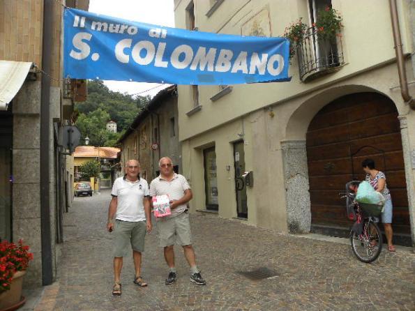 Aldo e Peta all'inizio della salita di San Colombano (Foto Nastasi)