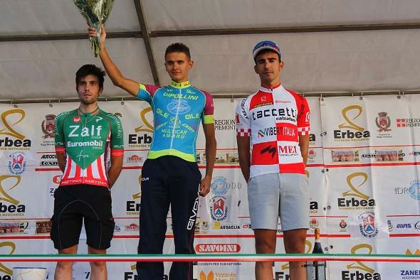 Vendrame, Riabushenko e Bernardinetti, podio 33° Trofeo Sportivi di Briga (Foto Pisoni)