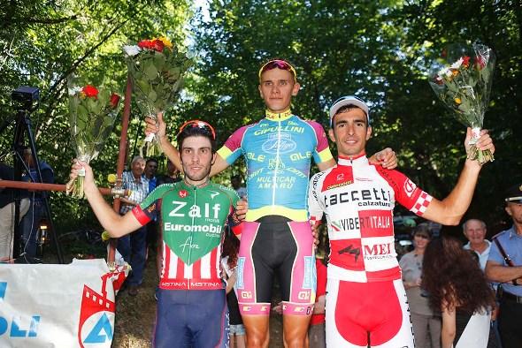 Vendrame, Riabushenko e Bernardinetti, Podio 33° Trofeo Sportivi Briga (Foto Pisoni)