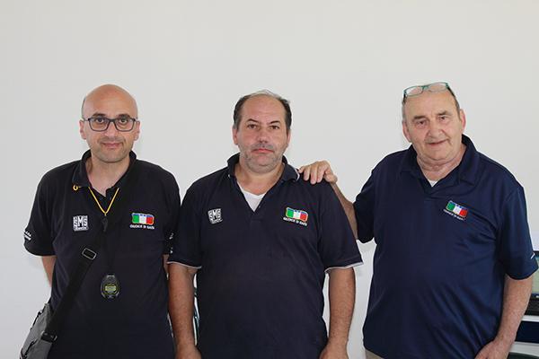 da sx, Rosario Leone, Roberto Mocchi e Roberto Castelli, Giuria FCI ad Appiano Gentile (Foto Kia)