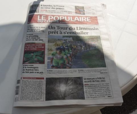 La stampa territoriale e il 49° Tour du Limousin (Foto Aldo Trovati)