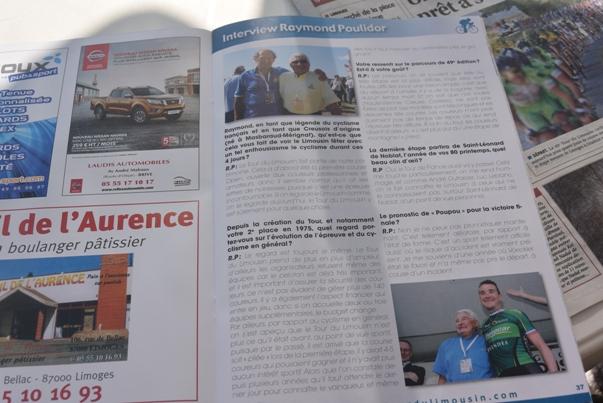 La stampa locale e il 49° Tour du Limousin (Foto di Aldo Trovati)