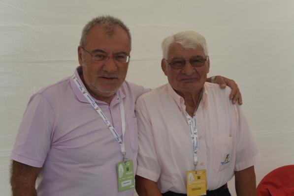 Aldo Trovati con Raimond Poulidor