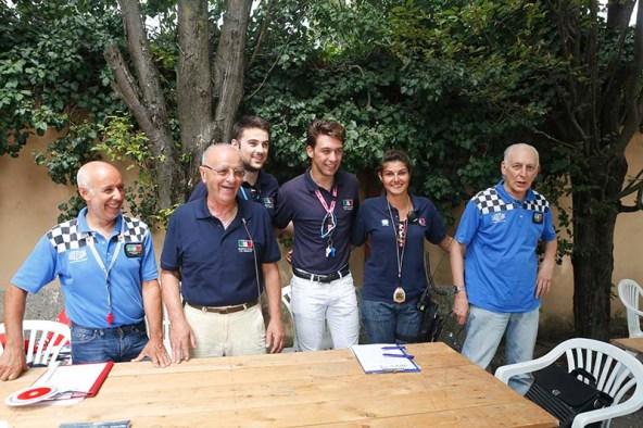 Giuria FCI a Guazzora con i due direttore e vicedirettore di corsa (Foto Pisoni)