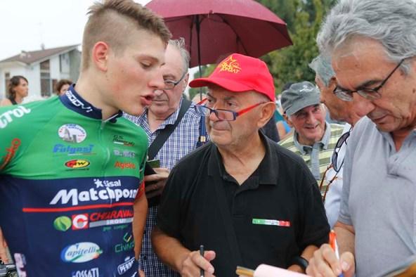 Imerio Cima intervistato (Foto Pisoni)