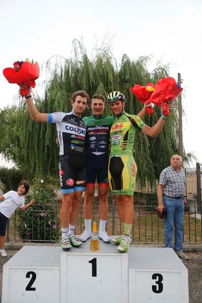 da sx, Minali, I. Cima e Lonardi, podio 99° Circuito Guazzorese (Foto Pisoni)