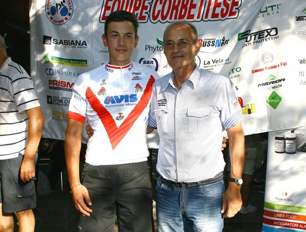 Christian Nardi col presidente FCI Milano, Valter Cozzaglio (Foto Berry)