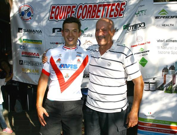 Christian Nardi, neocampione milanese Juniores col Presidente Enrico Sangalli (Foto Berryy)