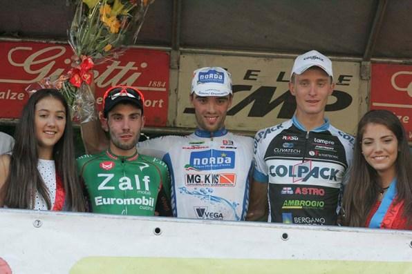 Il podio del 65^ GP Colli Rovescalesi (Foto Pisoni)
