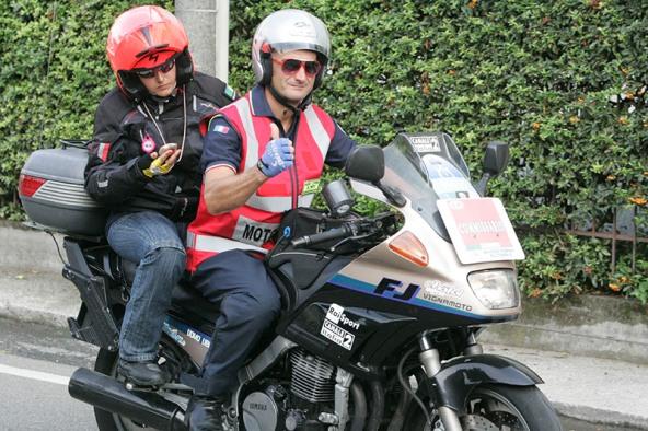 Giulia Fassina, Giudice FCI in moto in azione a Castelnuovo Scrivia (Foto Pisoni)