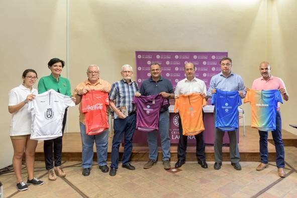 Gli Organizzatori presentano le 6 maglie riservate ai leaders delle varie classifiche della Vuelta Ciclista a la Isla de Tenerife