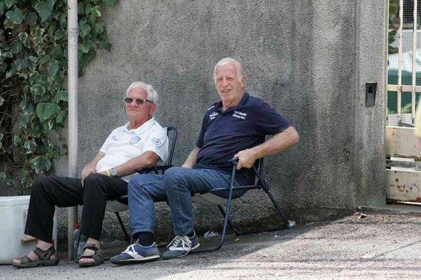 Alberto Cappelletti e Benito Peraro, uomini dello Staff Viris-Maserati (Foto Pisoni)