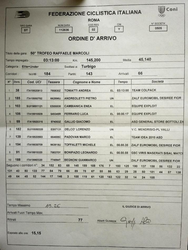 04.09.16 - ORDINE ARRIVO