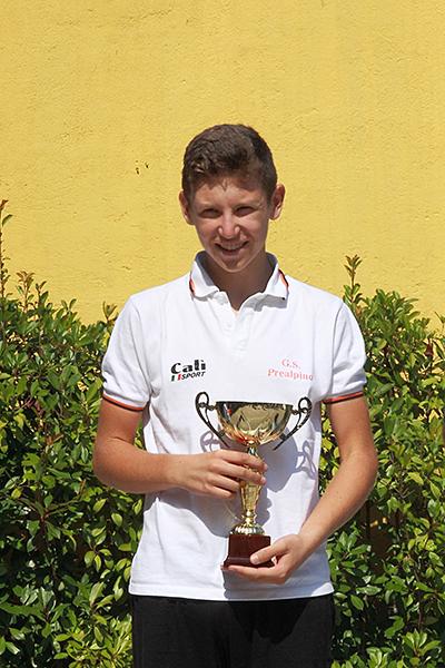 Premiazione di Tosetto, 2^ classificato (Foto Kia)