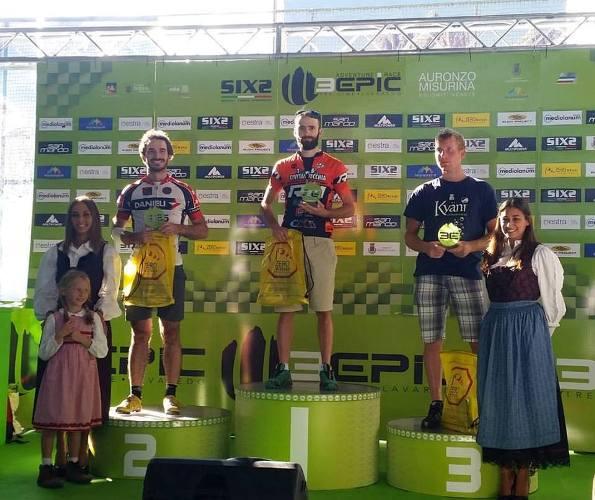 Federico Priante sul podio