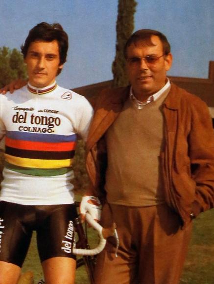 Giuseppe Saronni con Stefano Del Tongo (Foto Antonio Pisoni)