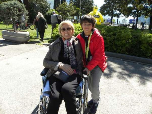 Lina Joppi col nipote Giulio (Foto Natascia M.)