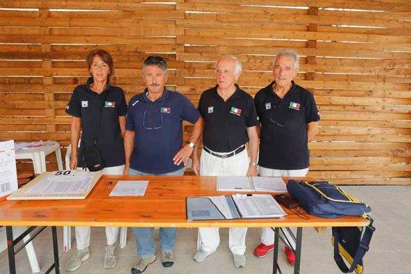 da sx, Facchinetti, Frutti, Castani e Casana, Giudici FCI Sannazzaro (Foto Pisoni)