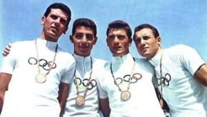 Da destra, Giacomo Fornoni, Antonio Bailetti, Livio Trapè e Ottavio Cogliati