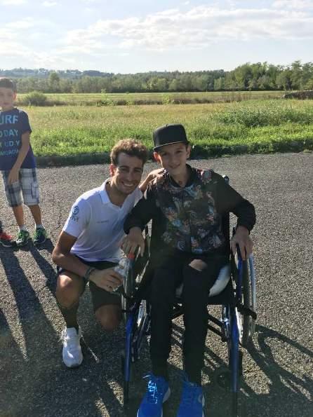 Fabio Aru con Christian