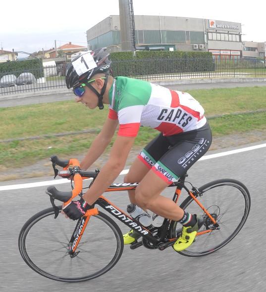 Il Tricolore categoria Allievi, Petrucci in azione (Foto Rodella)