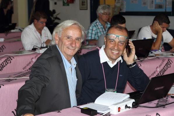 Il presidente FCI di Como, Franco Bettoni qui con lo speaker Alessandro Brambilla