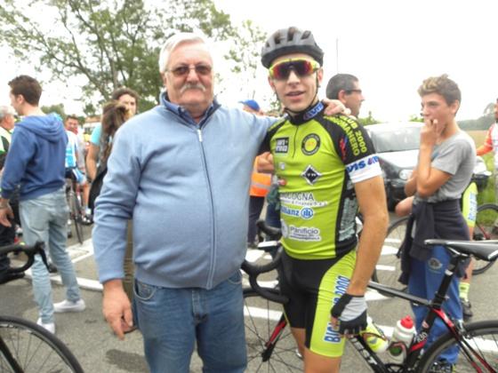 Andrea Sulis col suo Presidente, Secondo Briolotti (Foto Nastasi)