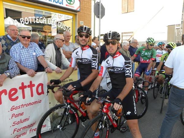 Samuele Oliveto, qui a dx, col compagno di squadra Gabriele Campello (Nastasi)
