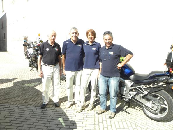 Da sx, Castani, (Componente); Salvoldi, (Presidente), Facchinetti Elena, (Giudice Arrivo) e Mario Frutti, campione d'Italia Giudici ciclisti FCI e Componente su Moto - (Foto Nastasi)