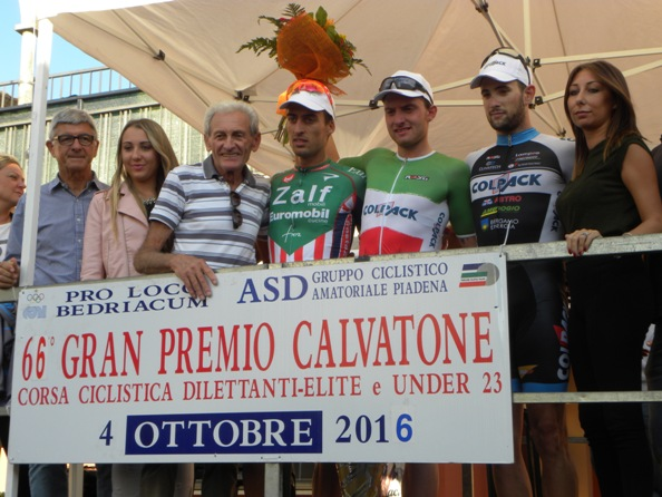 Giampietro Ruggeri col podio (Foto Nastasi)
