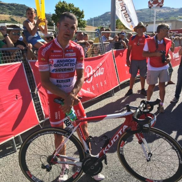 Davide Viganò sfortunato nell'ottava tappa del Giro del Portogallo 2016
