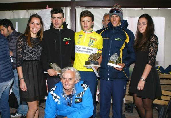 Premiazione Bevilacqua, Bagioli e Belloni (Foto Nastasi)