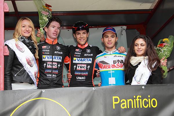 Da sc, Bertoletti, Oldani e Murgano, Podio Memorial Astrua (Foto Kia)