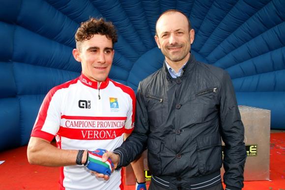 Cristian Rocchetta, neo campione provinciale juniores di Verona (Photobicicailotto)