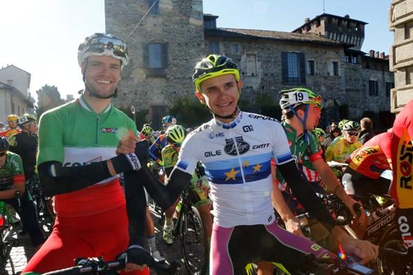 Il Tricolore degli Elite, Davide Orrico e il Campione Europeo, Aleksandr Riubushenko (Foto Pisoni)
