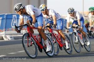 Guarnieri, Nizzolo e Viviani nell'ordine a Doha (Bettiniphoto.net)