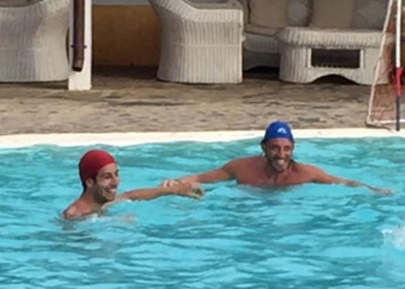 Marcatura stretta tra Fabio Aru e Christyan Pisoni