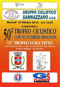 18.10.16 - LOCANDINA 50^ TROFEO CICLISTICO COMUNE DI FERRERA ERBOGNONE