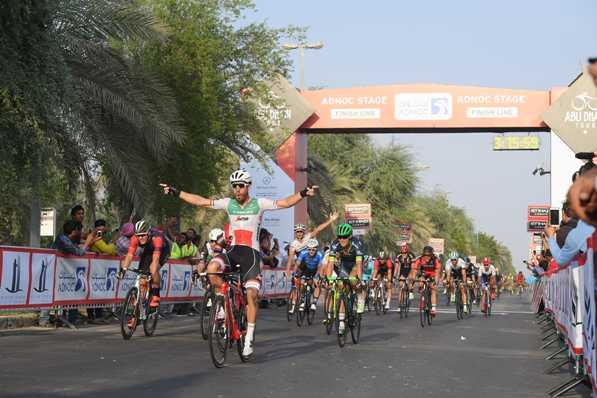 Giacomo Nizzolo vince la 1° tappa del 2° Abu Dhabi Tour a Madinat Zayed