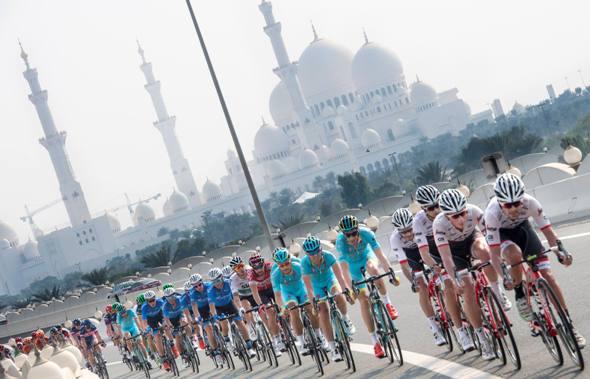 "The 115 km ""Nation Towers"" Second stage of Abu Dhabi cycling race from Abu Dhabi to Abu Dhabi Al Marina, UAE, 21 October 2016. ANSA/CLAUDIO PERI"