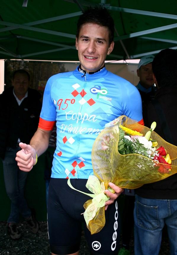 Mathias Reutimann con la maglia di vincitore della 95° Coppa d'Inverno (Foto Berry)