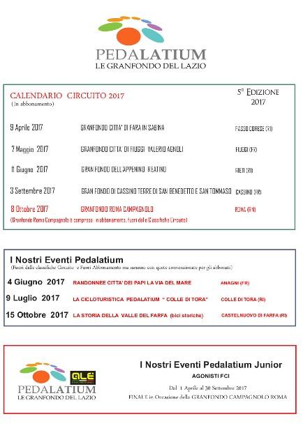 23.10.2016 - PedaLatium 2017 il calendario