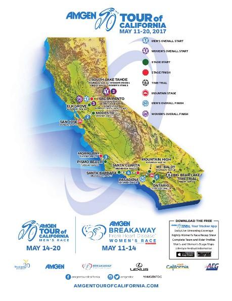 PLANIMETRIA GENERALE AMGEN TOUR OF CALIFORNIA 2017