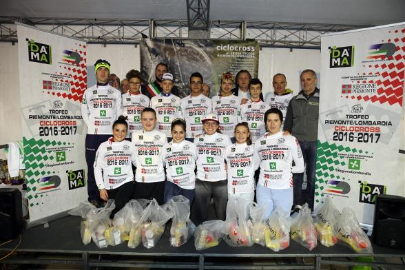 I leaders delle classifiche generali Trofeo Lombardia-Piemonte ad Ospitaletto Mantovano (Foto Soncini)
