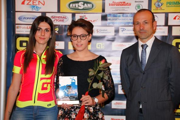 Martina alle premiazioni del CP-Verona (Photobicicailotto)