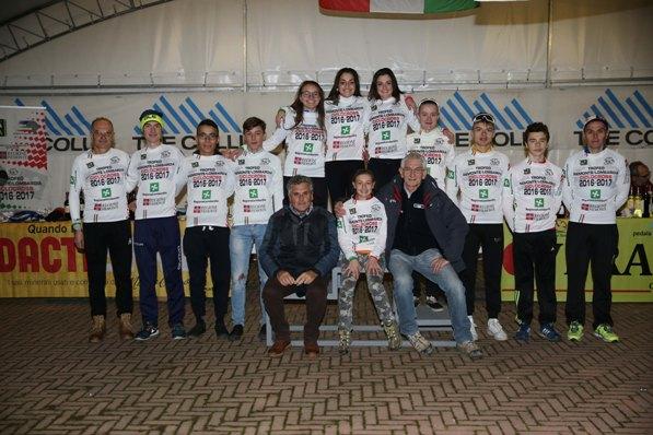 Leaders provvisori classifiche generali Trofeo con Subbrero e Milanetti (Foto Soncini)
